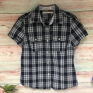 Tommy Hilfiger Plaid Button Down Ladies Shirt